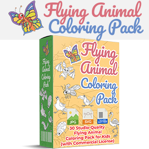 Flying coloring image